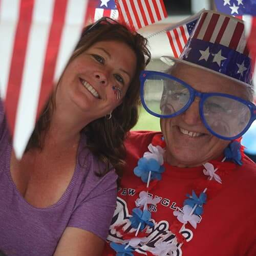 Couple Dressed for Fourth of July